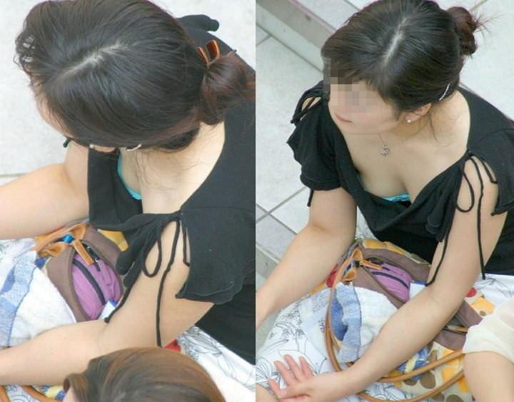 素人乳首チラ 画像 043