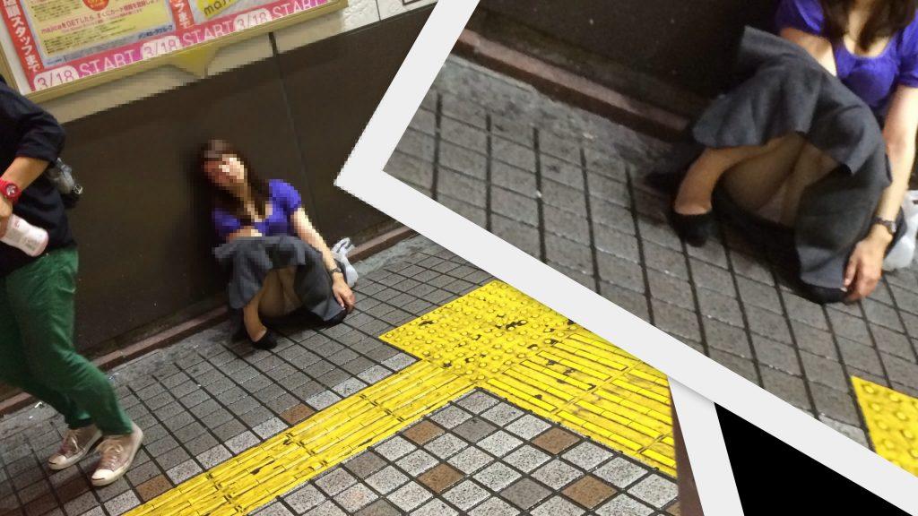 泥酔お姉さん 画像 012