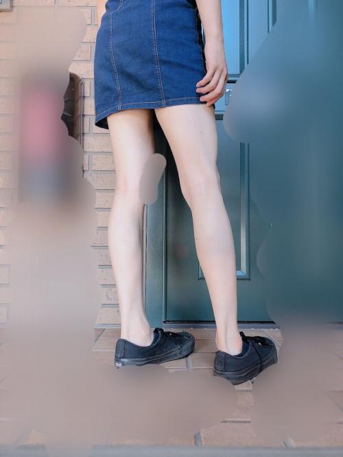 美脚ミニスカート 画像 038