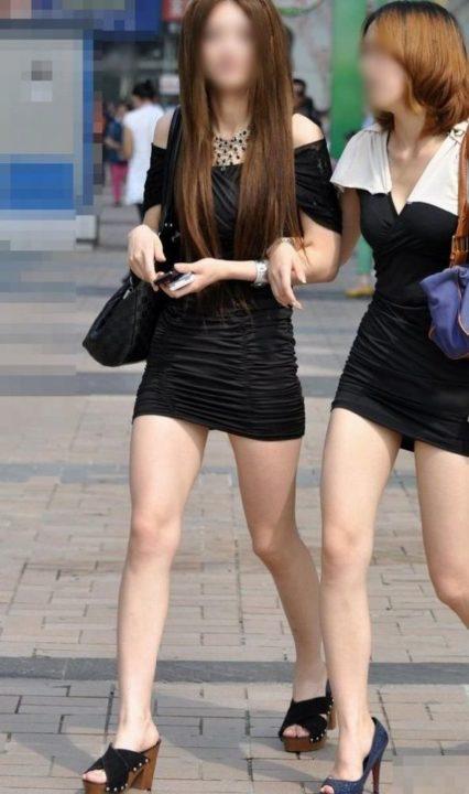 美脚ミニスカート 画像 040