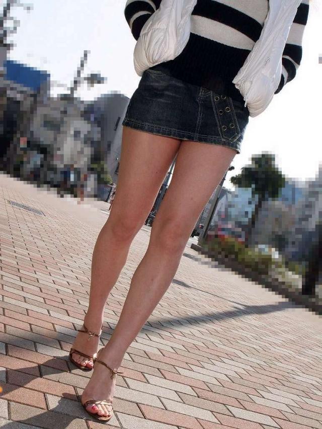 美脚ミニスカート 画像 054