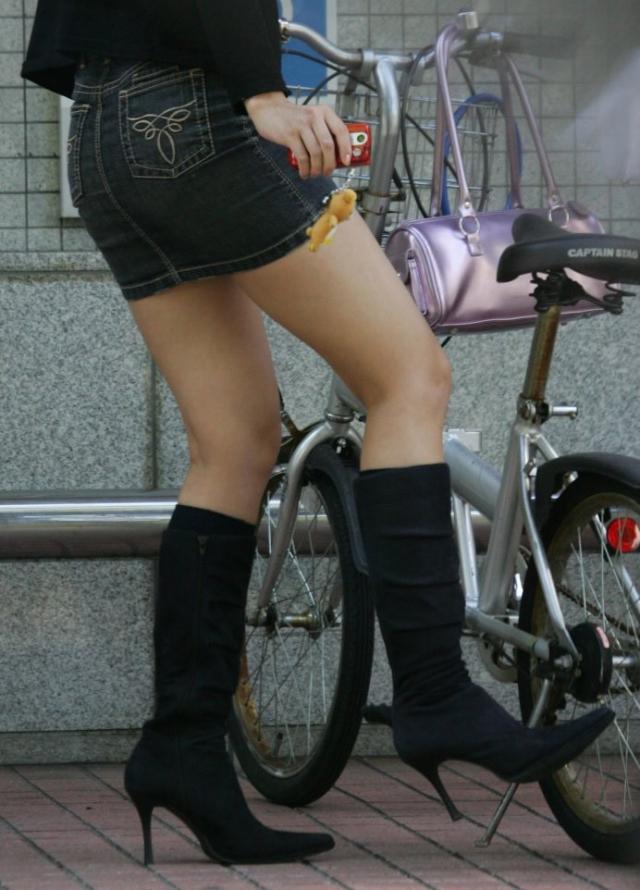 美脚ミニスカート 画像 056
