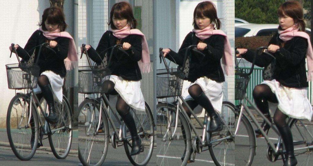 自転車のパンチラ 画像 030