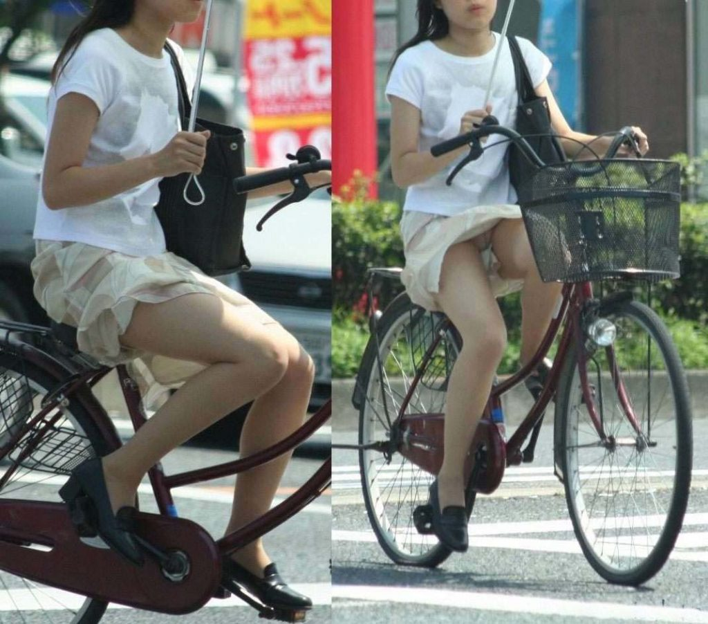 自転車のパンチラ 画像 033
