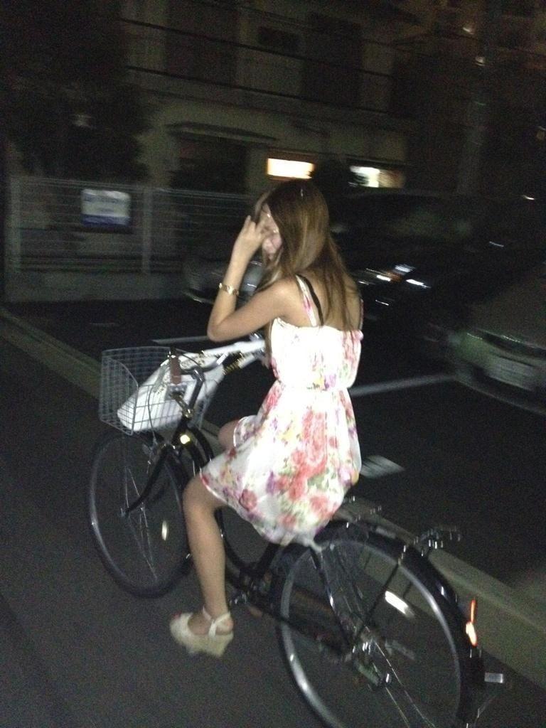 自転車のパンチラ 画像 038