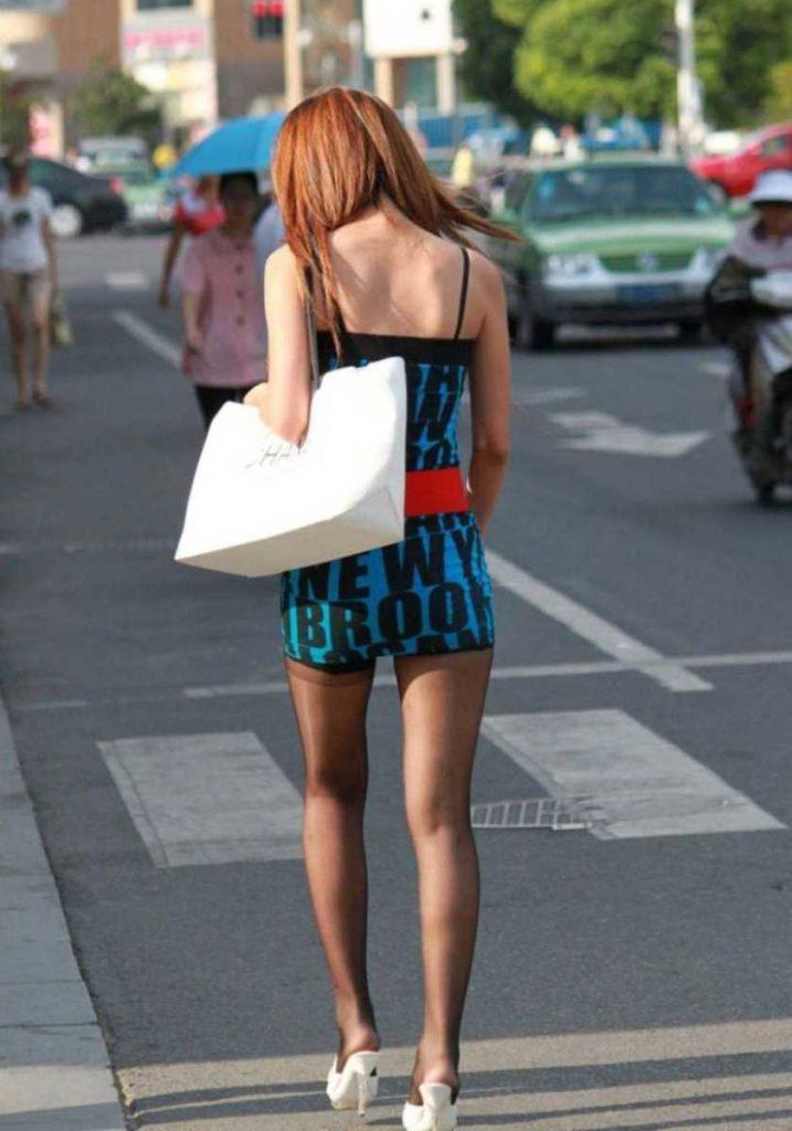 街中美脚 画像 032