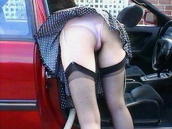 車内の淫乱素人 画像 015