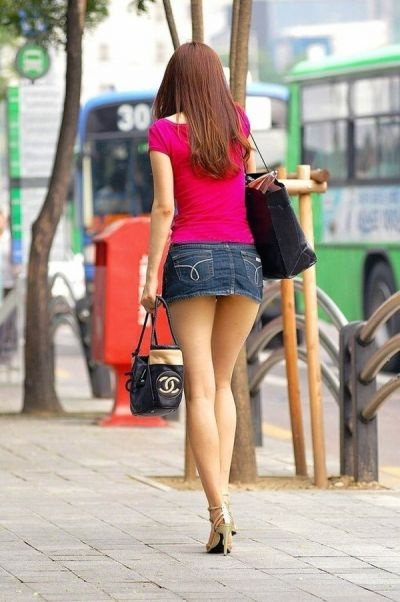 街撮りミニスカート 画像 038