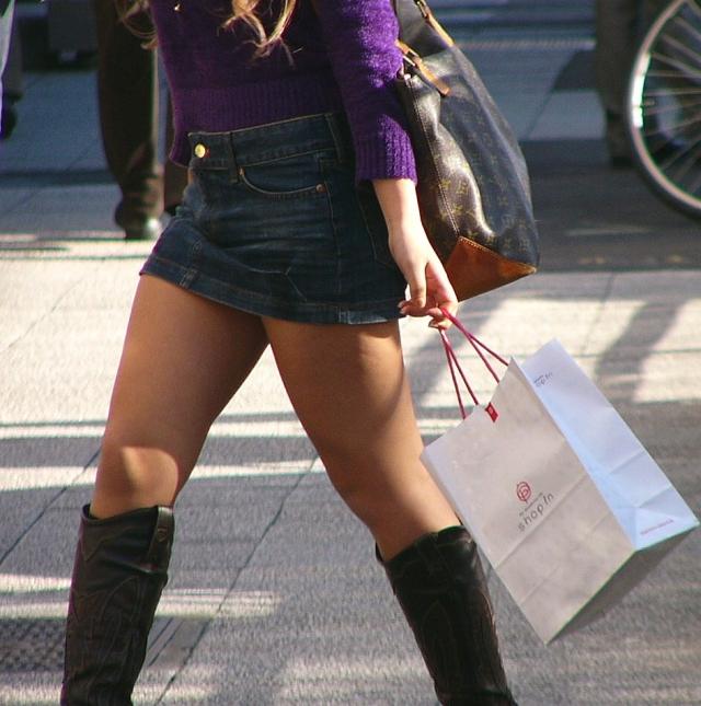 街撮りミニスカート 画像 052