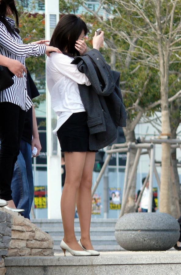 街撮りミニスカート 画像 054