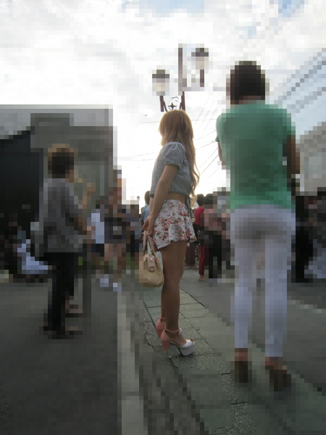 街撮りミニスカート 画像 092