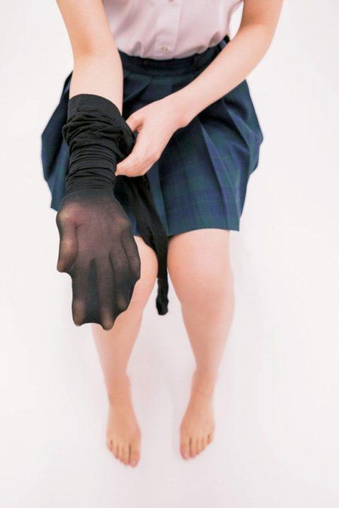 黒タイツ 黒ストッキングフェチエロ画像089