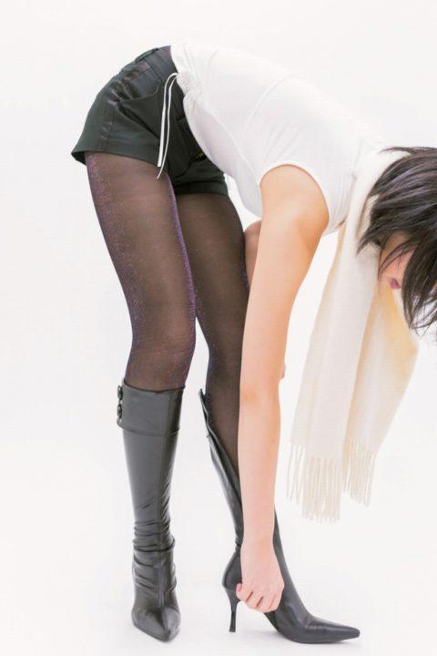 黒タイツ 黒ストッキングフェチエロ画像170