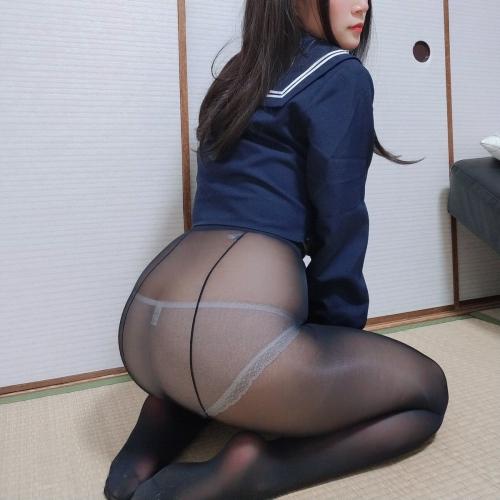 黒タイツ黒ストッキングフェチエロ画像030
